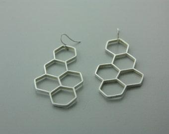 Hexagon Clusters Earrings