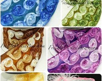 Variegated ROSETTE RIBBON wired 4 inches wide 7 colors available ROLL or yard