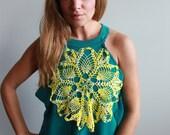 Layering Teal Crochet Tan...
