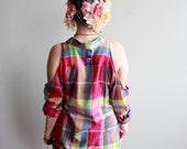 Colorful Plaid Native Tri...