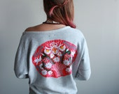 Pink Gray Mexican Embroid...