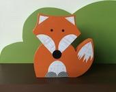 Fox Wooden Art, Fox Decor, Forest Themed Nursery, Fox Kids Decor, eco friendly
