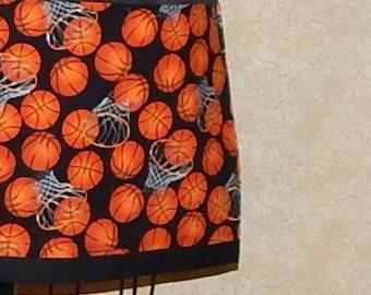 Basketball Half Apron Sportsbar Server Waiter Bartender apron three panel pocket all cotton hand made by me