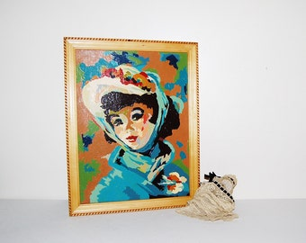 Vintage Paint by Numbers Pretty 1920's Style Lady
