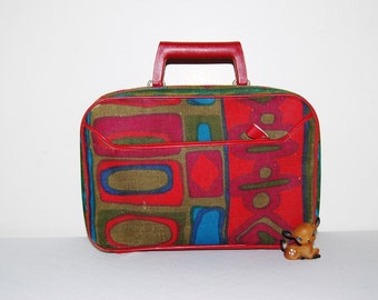 Vintage Cloth Small Suitcase