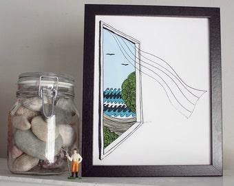 Open window print - On the breeze