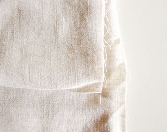 Natural Cotton Linen Blend - Japanese Fabric - Large Fat Quarter - Available in Larger Yardage
