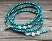 Turquoise Irish Eyeglass Holder. Celtic Knot Eyeglass Chain.