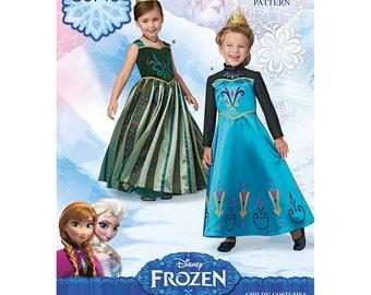 FROZEN SEWING PATTERN / Make Disney Princess Elsa and Anna Coronation Dresses - Costumes /Sizes 3 to 8