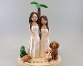 Same Sex Couple Customized Outdoor/ Beach Theme Wedding Cake Topper