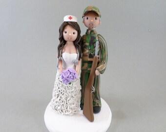 Nurse & Hunter Custom Made Wedding Cake Topper