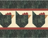PDF Pattern Easy Rooster Tablerunner Quilt   by MadCreekDesigns