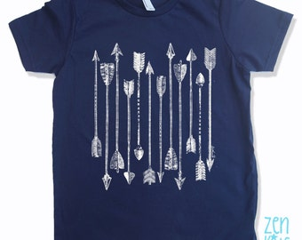 Kids Tee ARROWS Shirt - American Apparel Sizes 2 4 6 8 10 12 (9 Colors) - FREE Shipping