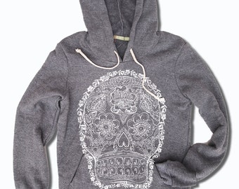 Womens DEAD 2 Alternative Apparel Fleece Eco-Grey Pullover Hoody S M L (limited print run)