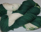 Studio June Yarn Andrea Mae DK, Superwash Merino, DK/Light Worsted Weight, Color: Go Team! Green/White