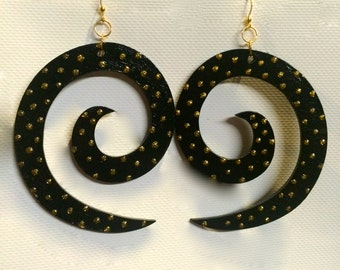Extra Large Spiral Earrings