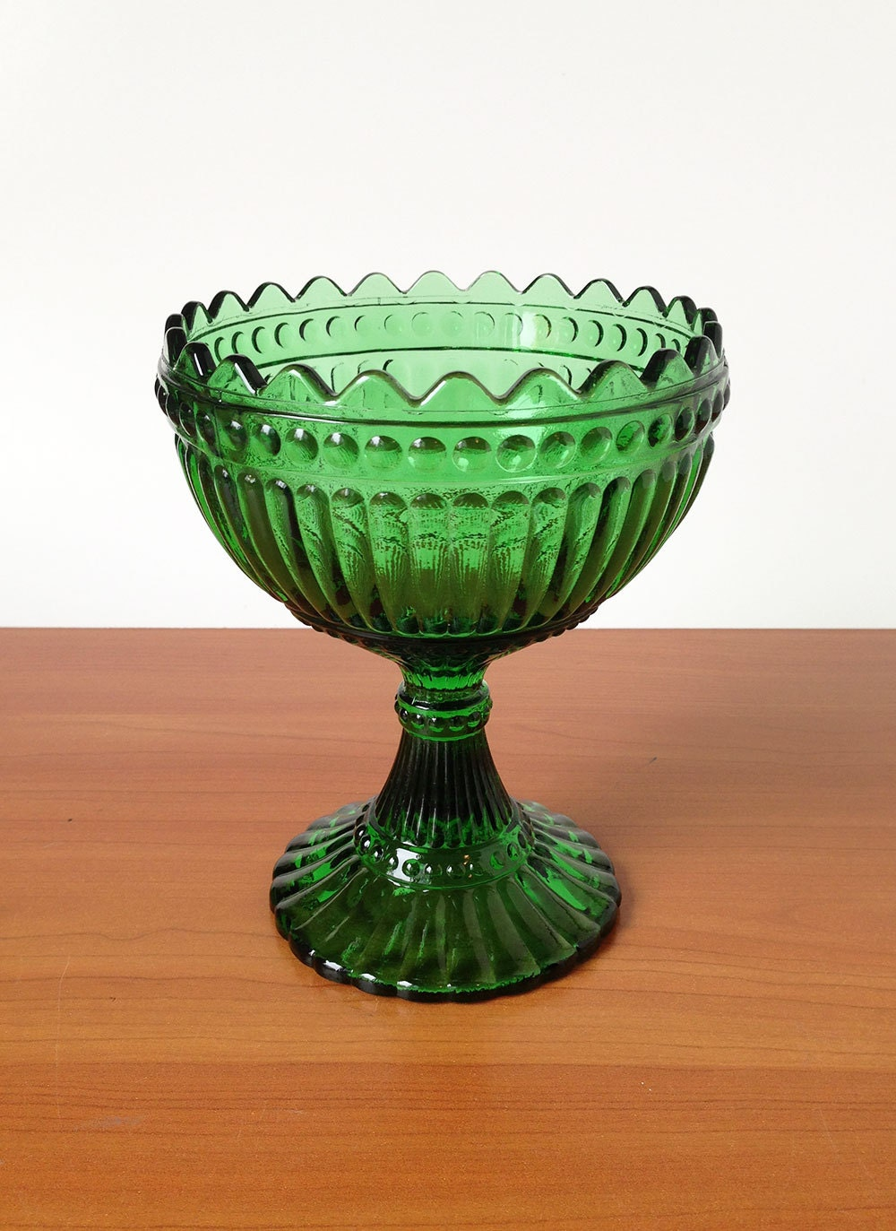 Emerald Green Marimekko Glass Bowl Vintage Candy Iittala