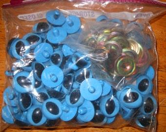 100  Doll or Stuffed Animal Eyes Blue 24 MM