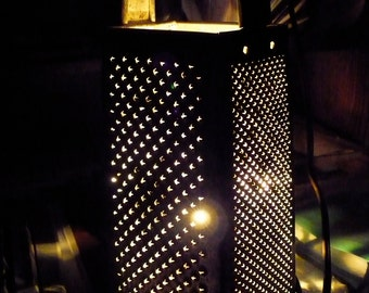 Repurposed Vintage Cheese Grater Night Light - Bromco