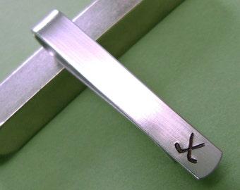Hockey // Hockey Sticks Tie Bar // Hockey Tie Clip // Custom // Hand Stamped // Hockey Fan // Groomsmen Gift // Anniversary // Dad
