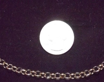 Ready To Ship! 20-Inch Long  - 5mm Rolo Pure Stainless Steel Necklace Plus FREE In-Country Shipping - Item #144