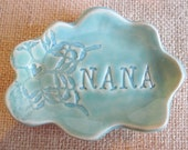 Nana cloud ring holder, jewelry dish, Grandmother gift, Mothers day gift, Nana gift, ceramics and pottery