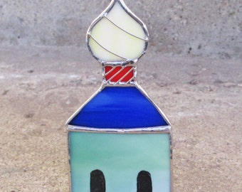 Russian Style Church Ornament Stained Glass Christmas Holiday Decor