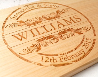 Personalized cutting board, custom engraved cutting board, cheese board, serving board, wedding, anniversary gift