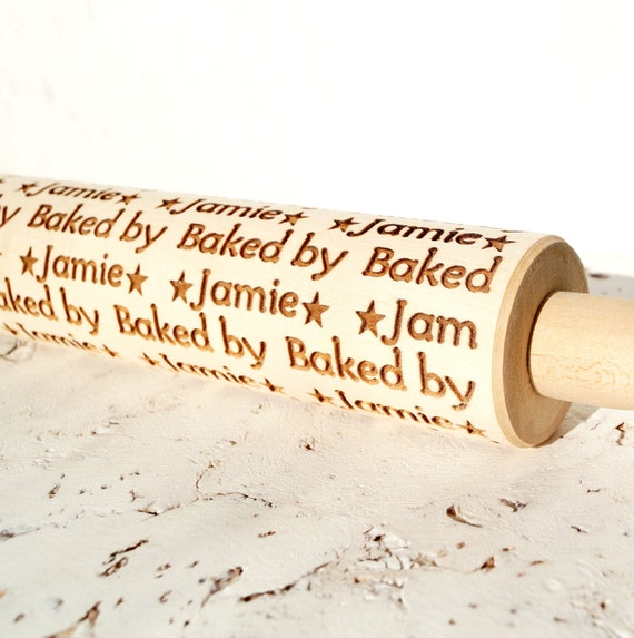 Personalized embossed rolling pin