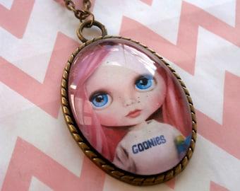 Blythe Doll Pendant Necklace Jewellery - Wearable Art goonies