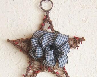 Wreath, Star, Door or Wall, Tree Topper