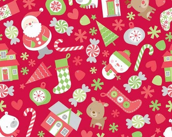 Red Main Christmas Fabric - Riley Blake - Home for the Holidays - C3970