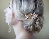 Blush and Gold Hair Comb