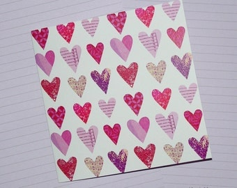 Hearts - Valentine's Day Card