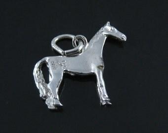 Vintage Sterling Silver Horse 3D Charm