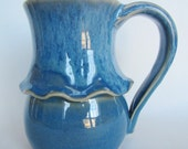 Large Mug Cup Blueberry Blue Handmade Pottery