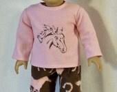 18 inch Doll Horse Pajamas