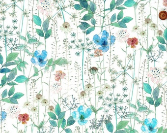 liberty of london - Irma - fat quarter - floral blue mix