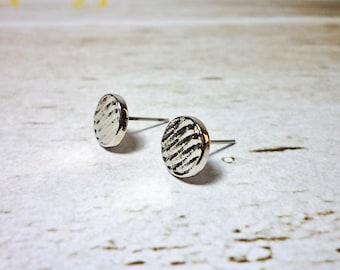 SALE - Textured Disc Stud Earrings, Dainty Earrings
