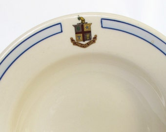 Logo Minneapolis Club Vintage Restaurant Shallow Soup Bowl Shenango China Collectible Hotel Ware Name and Symbol Cafe Diner Dishes