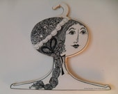 Vintage Ladies Head Face Clothing Hanger Victorian Retro Girl Store Display, Boutique or Home Décor Hamburg Germany