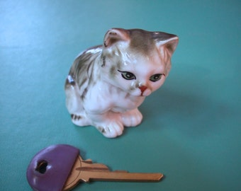 Vintage Ceramic Cat Figure 1950s- 1960s