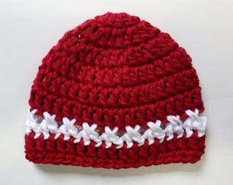 Crochet Pattern Hat - 6 sizes - Crochet Pattern Hat -  Preemie - Baby - Toddler - The Scarlett Hat