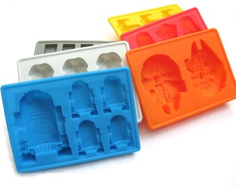 Star Wars silicone chocolate mold or ice tray DIY - choose your favorite