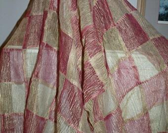 Silk Organza Pull Thru Wrap/Shawl/Shrug..Hands Free/Clutch/Wristlet/Bridal/Wedding/Evening..Gift/Navy/Black/Ivory/White/Dusty Rose/Gold/Plum