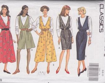 Butterick 5563 Misses' Jumper, Jumpsuit and Top Sizes 6, 8, 10 Vintage UNCUT Pattern