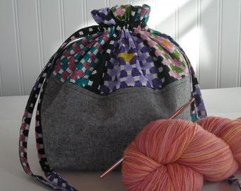 Knitting Pattern Small Drawstring Bag : Popular items for small drawstring bag on Etsy