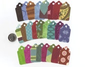 Earth Tones Collection Mini Scallop Top Die Cut Gift Hang Tags (Set of 50) Favor Bag Tags / Craft Show Price Tags / Ready To Ship