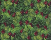 Green Holly Toss (74012-737) - BTY - South Seas