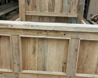 YOUR Made to Order Barn Wood Panel Bed FREE SHIPPING - BWB17F